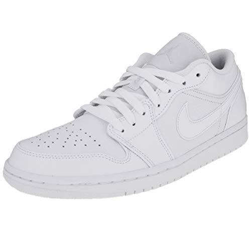 Jordan Herren 1 Low Fitnessschuhe Weiß Pure Platinum/White 000, 41 EU