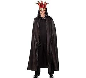Fyasa 706280-t04-negr veneciano capa disfraz, negro, grande