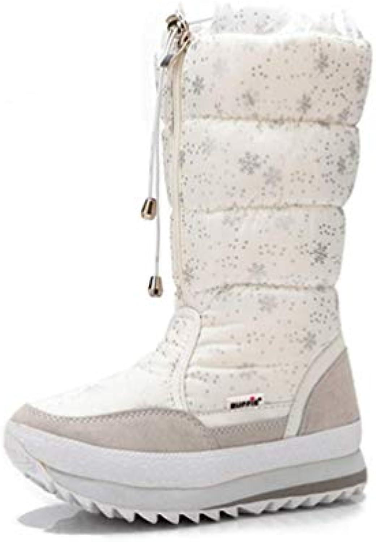 ZHRUI Stivali Invernali da Donna Scarpe Alte e Peluche Calde Scarpe Eleganti da Donna (Coloreee   Bianca, Dimensione... | Eccellente valore  | Maschio/Ragazze Scarpa