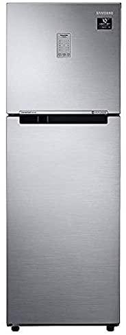 Samsung 253L 3 Star Inverter Frost Free Double Door Refrigerator (RT28T3743S8/HL, Elegant Inox, Convertible)