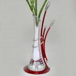Vase soliflore rouge 33cm