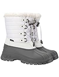 5d91124ad Mountain Warehouse Whistler Womens Snow Boots - Waterproof Ladies Winter  Shoes, Warm, Textile Upper, Reinforced Heel & Toe…