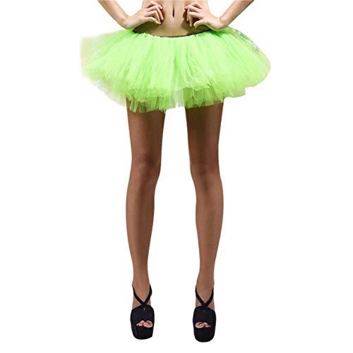 Nyutop Klassische 5-lagige Tutu Rock Tüll Petticoat Ballett Bubble Röcke Short Prom Dress up