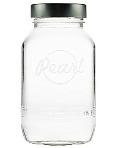 Pearl Mason Twist-Off-Gläser, Vorratsgläser | 6er-SET | 1000ml | inkl. Twist-Off Verschluss (silber) (Twist-verschluss)