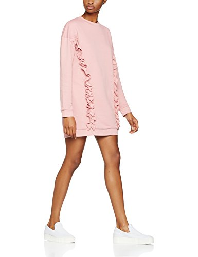 find-ruffle-trim-oversized-sudadera-para-mujer-rosa-old-rose-small