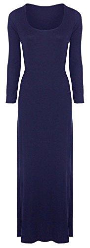CHOCOLATE PICKLE New Womens Plus Size Plain Long Jersey Scoop Neck Maxi Dress 8-34