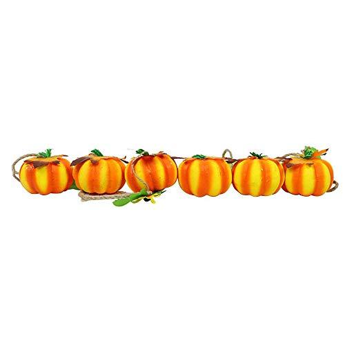 APMMONT Halloween Schaum kürbisschnur Lichterkette,künstliche kürbisschnur Kette Simulation kürbis Dekoration für Halloween -