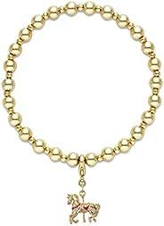 Buckley London Women Beaded Carousel Horse Charm Bracelet