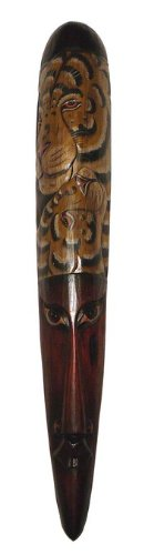 Katzen Hippo Kostüm Für - Edle riesige 100 cm Tiger Maske Tier Afrika Maske20