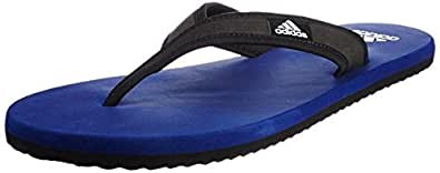 Adidas Men's Adi Rio Dark Blue, Black and White Flip-Flops and House Slippers - 6 UK