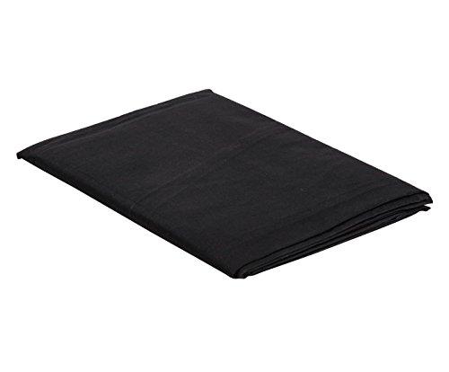 Italian bed linen telo copritutto 1pst, nero, 170x300x1 cm