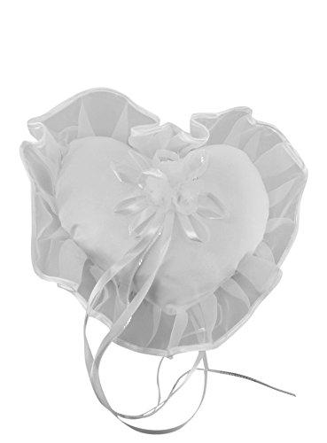 Cuscino da sposa a forma di cuore Bianco