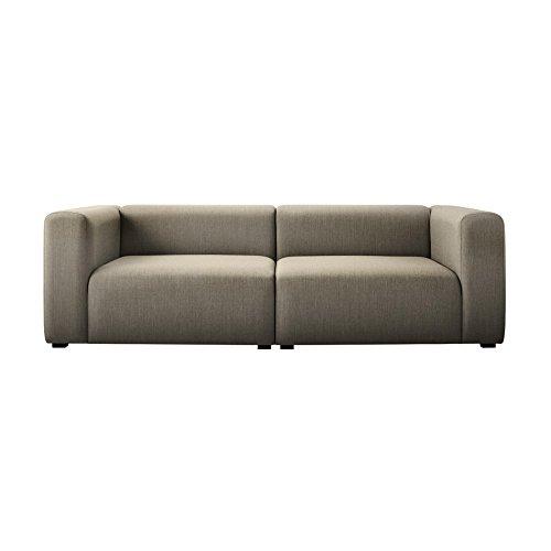 HAY Mags 2,5-Sitzer Sofa 228x95.5x67cm, beige Stoff Remix 233
