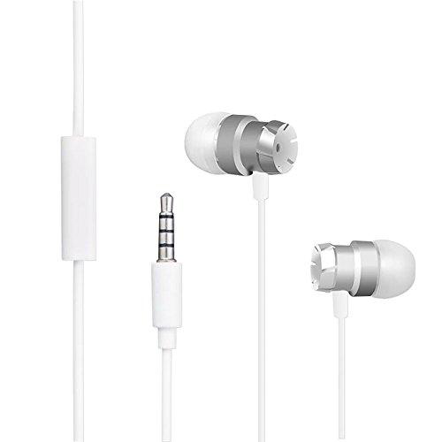 Ecouteurs pour Blackview Outdoor Smartphone, Interface Plus Longue avec Microphone Intégré Ecouteurs intra-auriculaires Stéréo pour Blackview BV6000 / BV7000 / BV8000 Pro