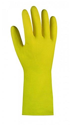 Texxor 2220 10 Paar Haushalts-Handschuhe aus Naturlatex, gelb, Größe:10 (XL)