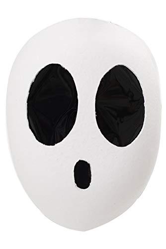 Mario Shy Guy Super Kawaii Weiß Maske Tanzmaske Kopfbedeckung Helm Cosplay Damen