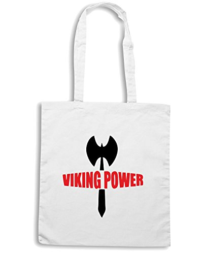 T-Shirtshock - Borsa Shopping TM0477 viking power Bianco