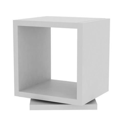 TemaHome avec coque Rotative niveau 1 étagère Blanc pur mat, 40 x 34 x 39 cm (Blanc)