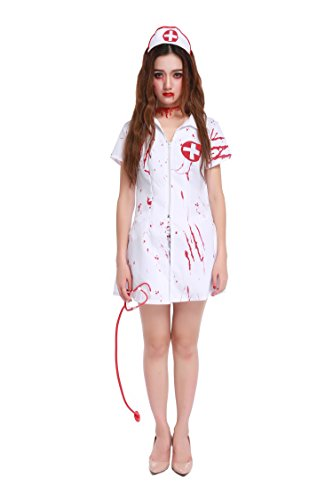 Doctor Horror Coat Halloween Kostüme (One Size) (Ghost Nurse Kostüm)