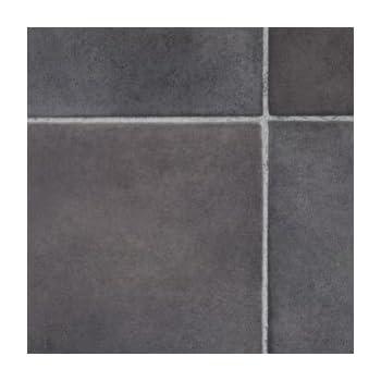 Black Slate Tile Effect Vinyl Flooring 2mx2m Kitchen Vinyl