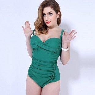 XL übergewichtige Bikini Badeanzug 54 das Grün