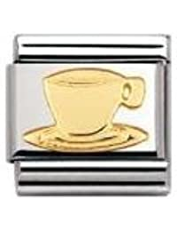 Nomination Composable Classic DAILY LIFE Edelstahl und 18K-Gold (Espresso-Tasse) 030109