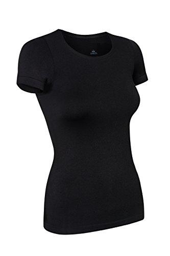 Assoluta Damen T-Shirt kurzarm, Größe S, black