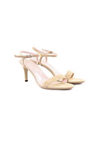 Fornarina scarpe col tacco in pelle scamosciata Beige