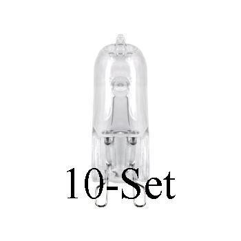 1x Halogenlampen 10er Pack Halogenlampe Halogenleuchtmittel G9 25 Watt 10 Stück