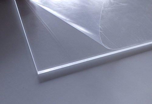 Cuadros Lifestyle Acrylglas | PMMA XT | transparent | glasklar | UV beständig | beidseitig foliert | im Zuschnitt | 4 mm stark, Größe:40x40 cm / 2er Pack