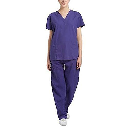 Fancy Dress Wissenschaftler - Kurzarm Krankenschwester Uniform Krankenhaus-Arbeitskleidung Studentenkleidung Laboruniformen