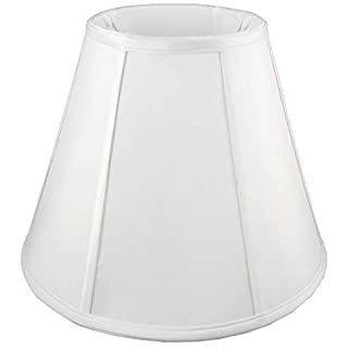 American Pride Lampshade Co. 19-78090004B Round Soft Tailored Lampshade, Shantung, Off-white