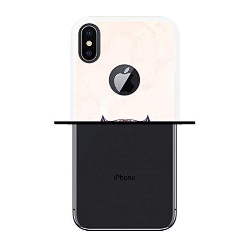 iPhone X Hülle, WoowCase Handyhülle Silikon für [ iPhone X ] Abstrakterfeuerdragon 2 Handytasche Handy Cover Case Schutzhülle Flexible TPU - Schwarz Housse Gel iPhone X Transparent D0186