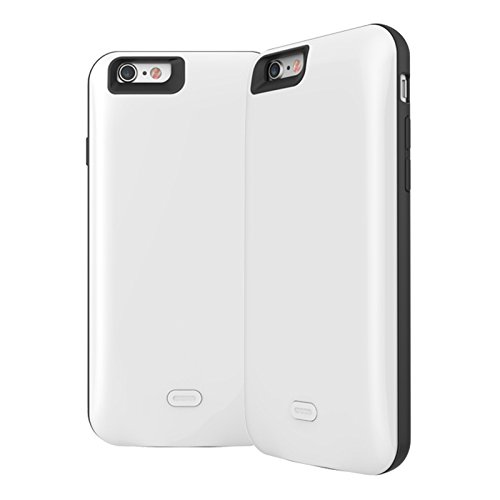 Batterie Coque iPhone 6 / iPhone 6s Cover, Forhouse Battery Externe Rechargeable Case Coque 2600 mAh Li-polymer Power Bank Portable Chargeur Batterie Pack Etui Housse Antichoc Smart Chargeur Protecteu Blanc