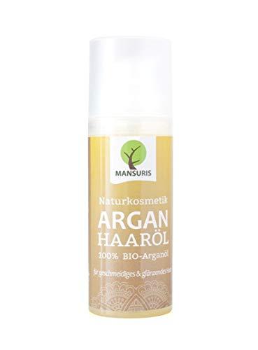 Bio Arganöl Haaröl mit frischen, fruchtigen Duft - Argan Körperöl kaltgepresst für Haare, Haut & Gesicht - 100{672c719d3acc7f3d20c19b9ac71b8d50b10ea2fedad09272bd3ad81572438998} Vegane Naturkosmetik, Haarpflege für glanzloses, strapaziertes und trockenes Haar 50 ml