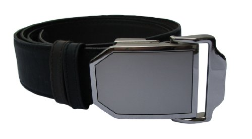 Ledergürtel Platin, stufenlos einstellbare Länge bis 150cm, Wendegürtel (schwarz / braun), Länge 150cm -