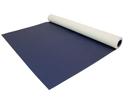 PVC Bodenbelag EXPOTOP Profi Vinylboden - Blau MUSTER Uni Anthrazit PVC Boden Meterware Vinyl, Reflektiert Nicht, Einfarbig, Schwer Entflammbar