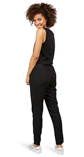 TOM TAILOR Denim Damen Solid Jumpsuit, Schwarz (Black 2999), 38 (Herstellergröße: M) - 2