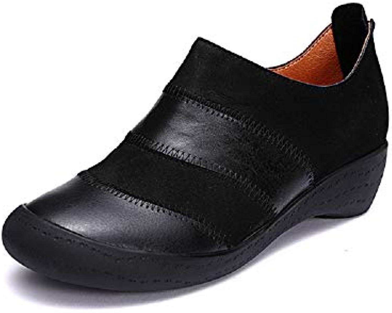 Qiusa Zipper Zipper Zipper Chaussures Femmes Mixte Couleur Cuir Casual Soft Mary Jane (coloré : Noir, Taille : EU 36)B07HVS9T4JParent f3338d