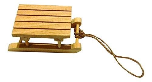 Preisvergleich Produktbild BUDILA® 6 Holzschlitten mini ca. 9x5x3, 5cm gross Weihnachten