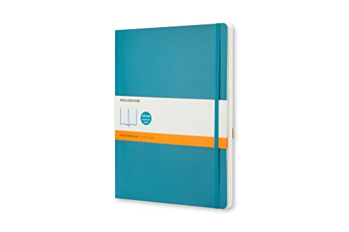 Moleskine Taccuino Classic Notebook, Extra Large, a Righe, Blu Oltremare