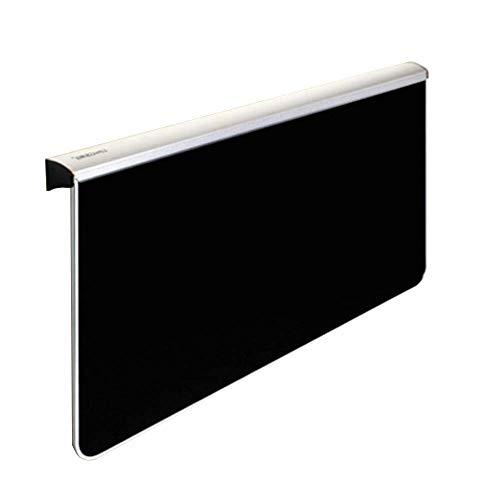 LVZAIXI Table Murale à Feuilles caduques Pliante Table en Bois Massif, 80 * 58cm, 100 * 58cm (Couleur : Noir, Taille : 80cm)