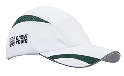 Crewroom VX Microlight / Ultralight Cap - White/Forest Green, One Size
