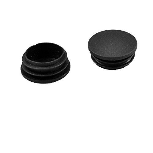 Fly tienda plástico tubo Inserta Fin Tapón obturador gorra 10pcs Negro