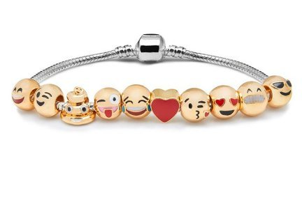 TR Fashion Customizable Emoji Charm Bracelets Jewelry Gift+ FREE EMOJI POUCH