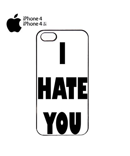I Hate You Tumblr Instagram Facebook Fashion Quote Mobile Phone Case Cover iPhone 6 Plus + White Noir