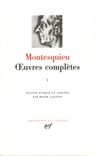 Œuvres complètes (Tome 1) (Bibliothèque de la Pléiade) por Montesquieu