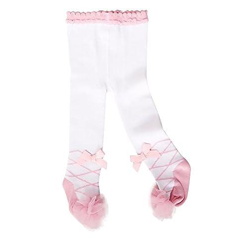 Sanlutoz - Collant - Bébé (fille) 0 à 24 mois - blanc -
