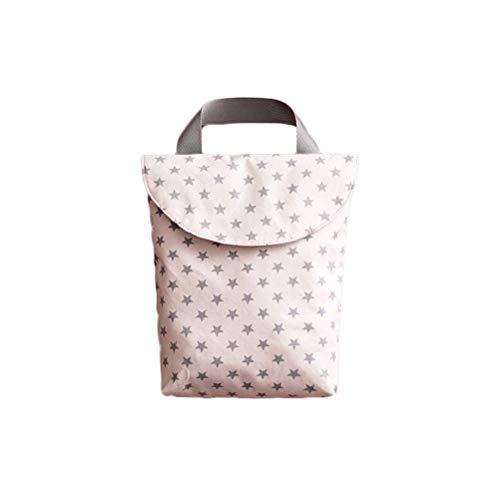 CHRONSTYLE Windeltasche Wickeltasche Wetbag Nasstaschen wiederverwendbare Feuchttücher Organiser Beutel mit Reißverschluss für Baby Kleinkind (E, 20cm*23cm)