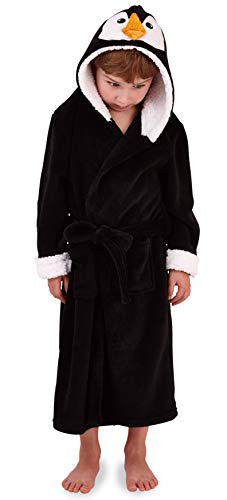 Pinguin Kostüm Hat - Mädchen Kinder mit Kapuze Einhorn Bademantel